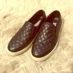 Steve Madden black slip on sneakers